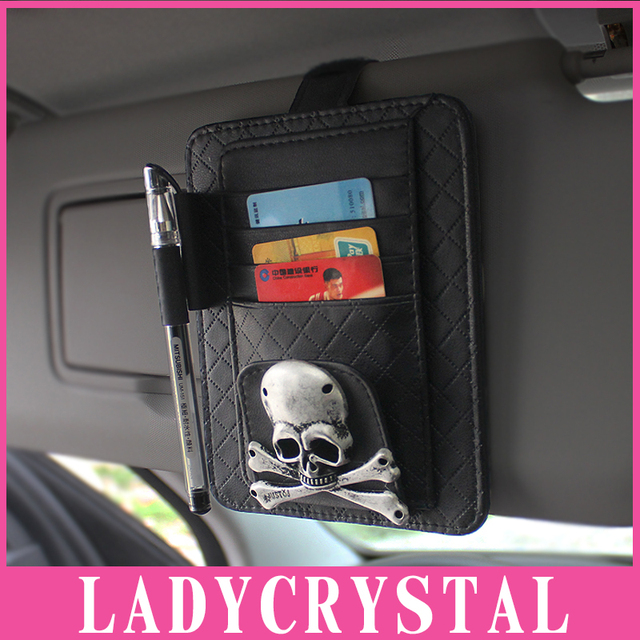 Ladycrystal business card holder sunshade storage bag spectacle ladycrystal business card holder sunshade storage bag spectacle frame car window car cd holder metal decor colourmoves