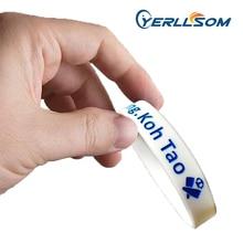 YERLLSOM 100 PCS/Lot bandes de Silicone en caoutchouc remplies dencre personnalisées de haute qualité pour cadeaux promotionnels P041503
