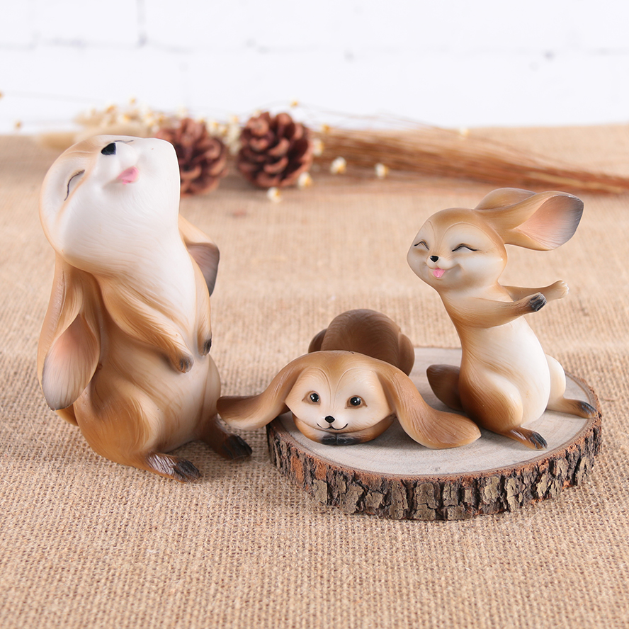 Original design simple modern living room fairy tale game resin rabbit decoration home decoration wedding gifts resin crafts image