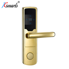 RF Card Hotel Lock Digital Promotion Intelligent Electronic RFID Card Door Lock with Key for Hotel Home Apartment Office