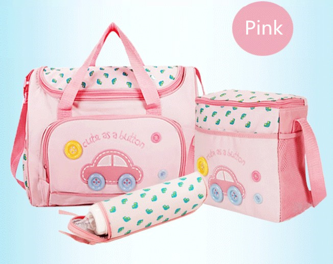 Promition! 3pcs Waterproof Cuties Baby Diaper Changing Bag Portable Designer Mummy Baby Bag 3 Sizes Available
