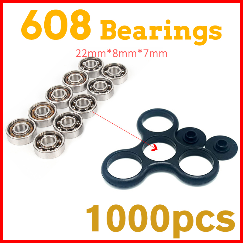 1000Pcs Super Fast 608 Bearing For hand spinners fidget toys tri-spinner fidget spinner glow in the dark batman spiner