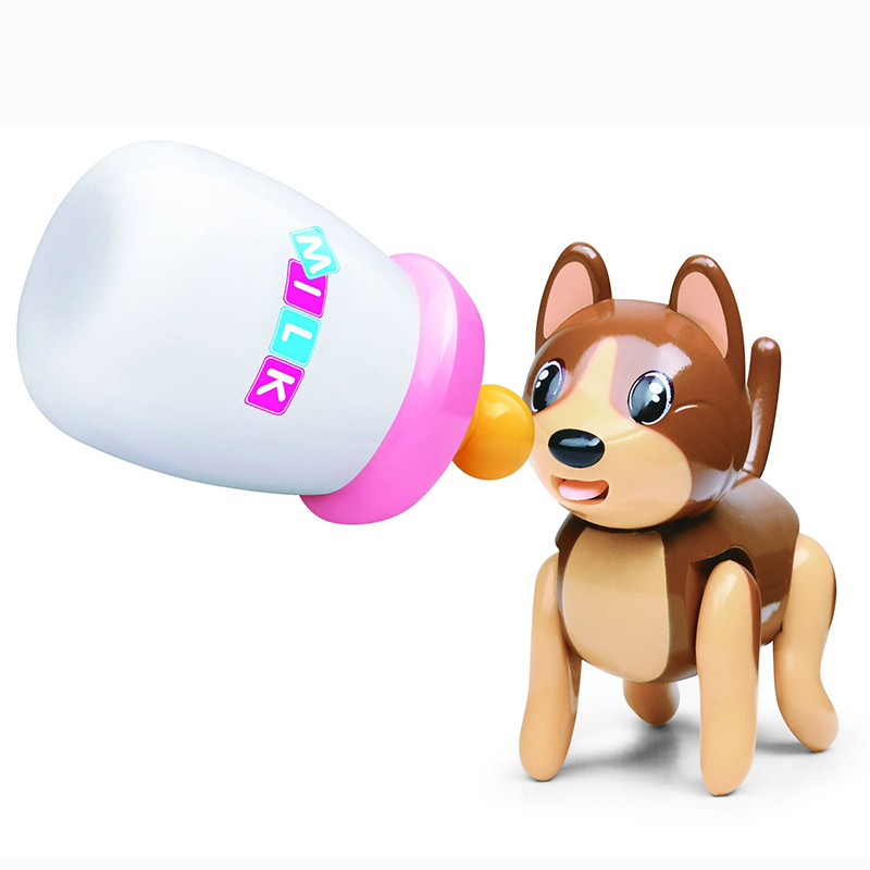 Baby Sucking Pet Cat Dog  Tongue Stick Out Drink Milk Bottle Children Puzzle Early Education Children Toys 777-263 FSWOB