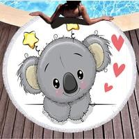 koala Beach towel swimming Bath Towel circle Blanket Tapestry Mat Blanket Decor towels cute cartoon towel drop shipping