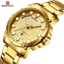 חדש NAVIFORCE גברים של Creative עסקים שעונים גברים ספורט צבאי עמיד למים קוורץ שעוני יד זכר שעון שעונים Relogio Masculino