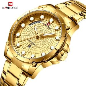 Image 1 - Nouvelle montre professionnelle créative NAVIFORCE pour hommes Sport militaire montre bracelet à Quartz étanche montre bracelet pour hommes montres Relogio Masculino