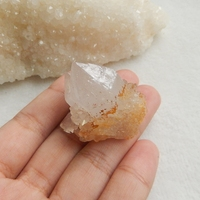 Hot Sale Natural Stone Drusy Yellow Quartz Cabochon 36x26x31mm 26.6g Beauty Jewelry Gift Accessories