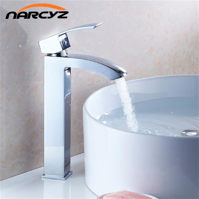 Basin Faucets Solid Brass Chrome Modern Bathroom Sink Faucet Single Handle Washbasin Hot Cold Mixer Water Tap Torneira XT518 newest washbasin design single hole one handle bathroom basin faucet mixer tap hot and cold water orb chrome brusehd