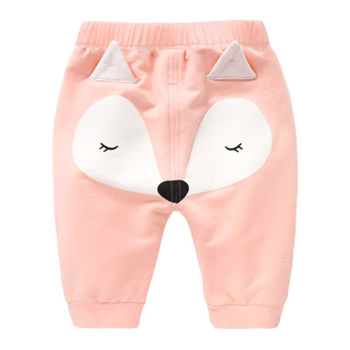 Casual Toddler Bottoms Pants Hot Infant Cartoon Harem Pants Baby Boy Baby girl Animal Trousers 3 color 95% Cotton 1