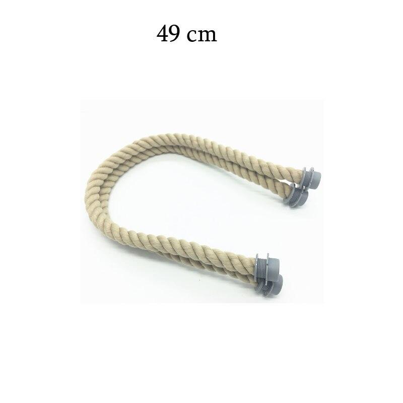 1 par 49 cm o 65 cm 70 cm 75 cm manija de cuerda natural y negra - Bolsos - foto 3