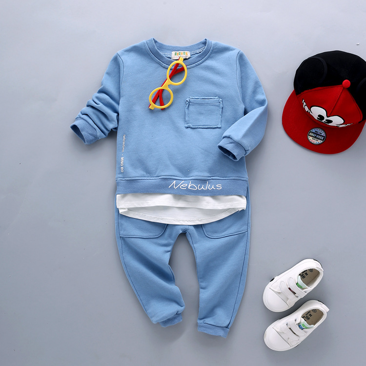 Hot Sale New Baby Boys Girls Spring Autumn Suit 100% Cotton T-shirt +pants 2pcs/sets of Children's Clothing Brand Free Shipping spring 2016 new rabbit baby girls suits embroidered t shirt stripe pants 2pcs suit paragraph next brand quality infant cotton