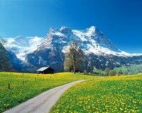 Niestandardowe 3d tapety ścienne Nowoczesne trójwymiarowy salon sypialnia TV tło Swiss Alps dekoracje 3d fototapety