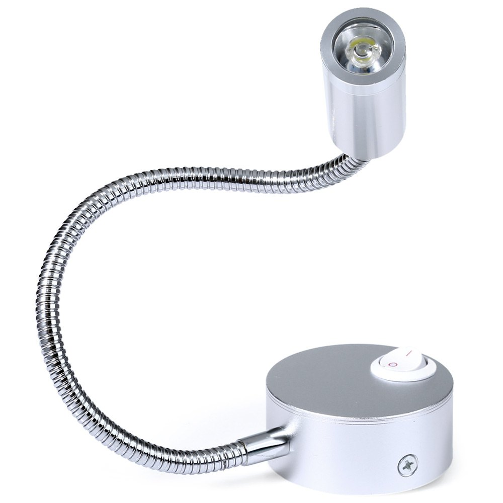 1w 3w led hoses wall lamp flexible home hotel bedside for Bedside wall lamps for reading