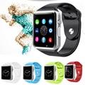 A1 original relógio de pulso do bluetooth smart watch esporte pedômetro com câmera sim smartwatch para android smartphones rússia t15