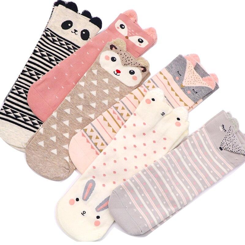 2pair Woman Socks 3D Cartoon Animal Pattern Women's Short Socks Spring Autumn Winter Styles Ladies Cute Kawaii Socks Calcetines
