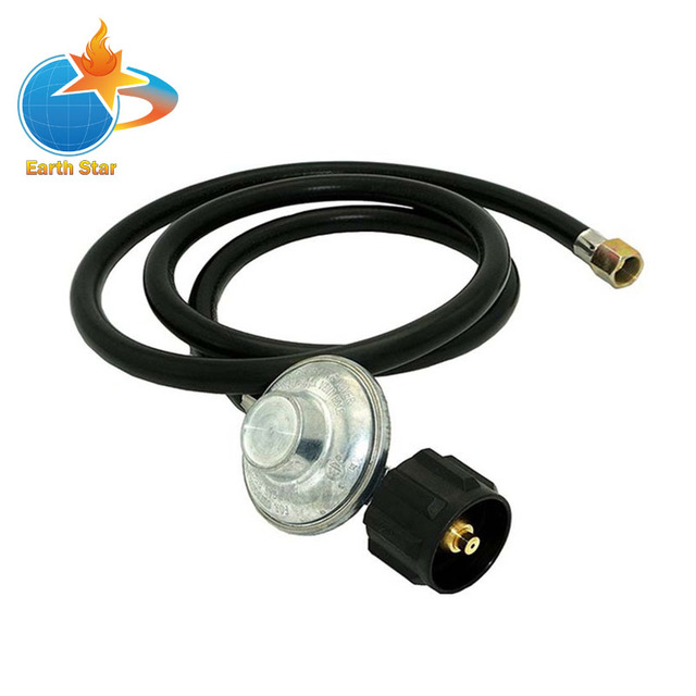 CSA Certified 2 meters Low Pressure Propane Regulator and Hose QCC1 Connection Kit for LP/LPG Gas Grill