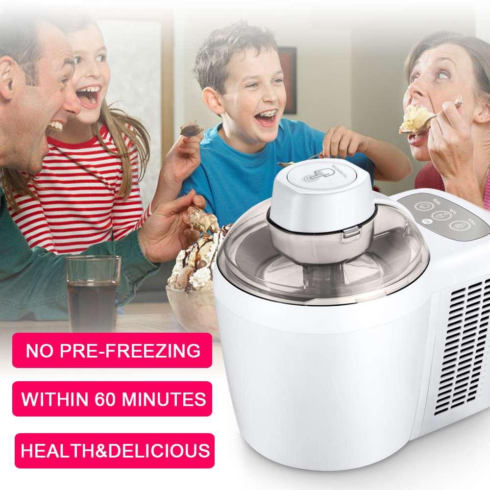 Household Full Automatic  Ice Cream Maker Machine Soft Hard Intelligent  Sorbet Fruit Yogurt Ice Maker Dessert Maker 700ml