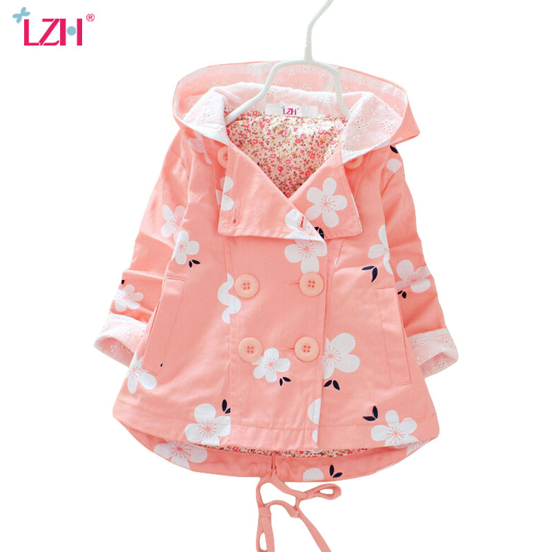 LZH Baby Girls Jacket 2018 Autumn Winter Jacket For Girls Trench Coat Kids Outerwear Coat For Girls Windbreaker Children Clothes yp176140 autumn clothes for girls coat baby jacket for girls jacket kids jacket fashion baby girl clothes windbreaker children