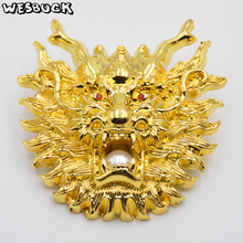WesBuck Brand Gold Dragon Metal Cool Belt Buckles
