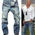 Hombres jeans mem pantalones de mezclilla nuevo 2015 famous brand jeans pantalones moda otoño e invierno casual hombre jeans Mismo pie estrella TC205