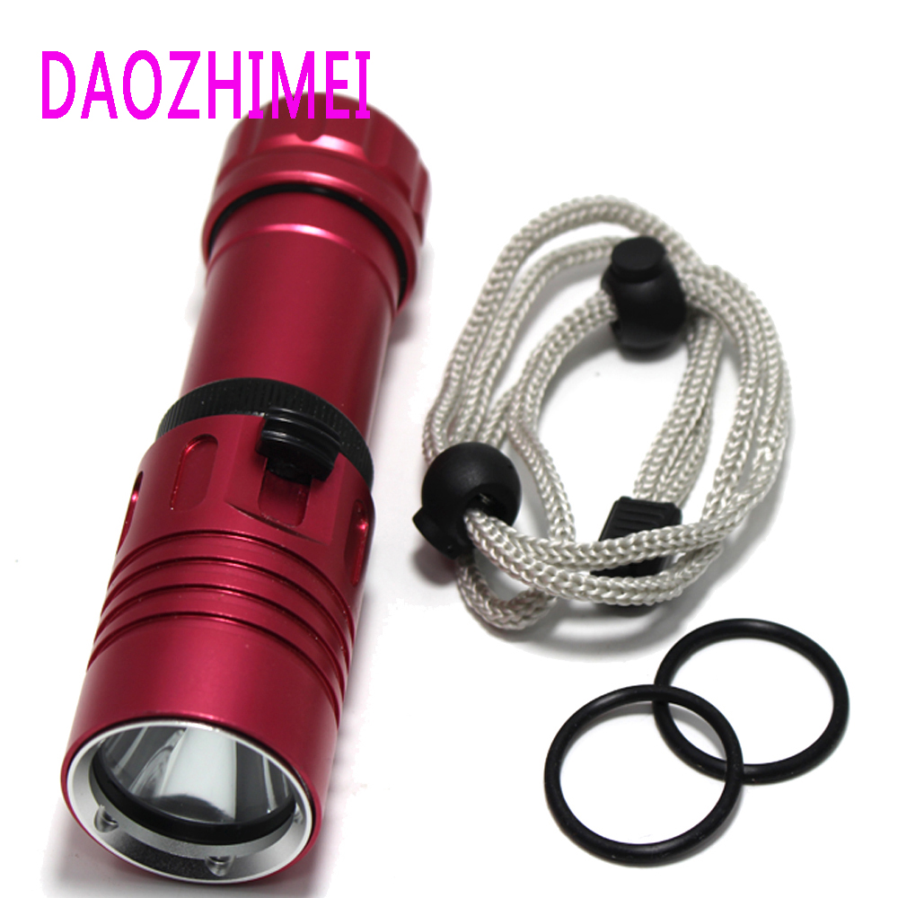 Waterproof Diving Flashlight 6000Lm Dive Underwater 80 Meter XM-L2 LED Torch Lamp Light Camping Lanterna use 26650 18650 Battery