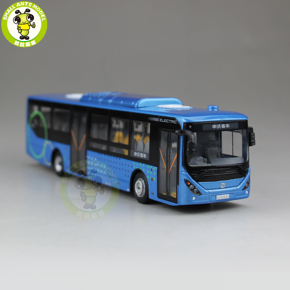 1/64 China Volvo City Bus SWB6128BEV Electric bus Diecast Bus CAR Model Toys gift 1 43 ankai bus sightseeing tour of london bigbus big bus diecast model bus open top