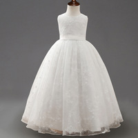 2017 Summer New Children S White Long Dress Embroidery Princess Dress Kids Wedding Dress Girls Floor