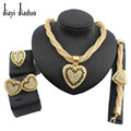 Bridal jewelry set super quality Gold-plated african big jewelry sets best quality costume  Women  wedding accessories