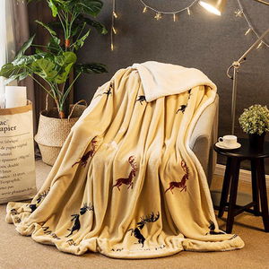 Image 5 - חורף צמר שמיכת החמוס קשמיר חמה שמיכת שמיכות צמר משובץ סופר חם רך לזרוק על ספה מיטה