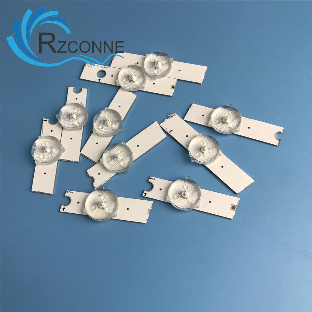 25pcs Aluminum Led Strips 3v Bulbs Diodes 32-65 Inch Optical Lens Fliter Backlight  For Samsung TV 2014SVS58 2013SVS55 2013SVS46