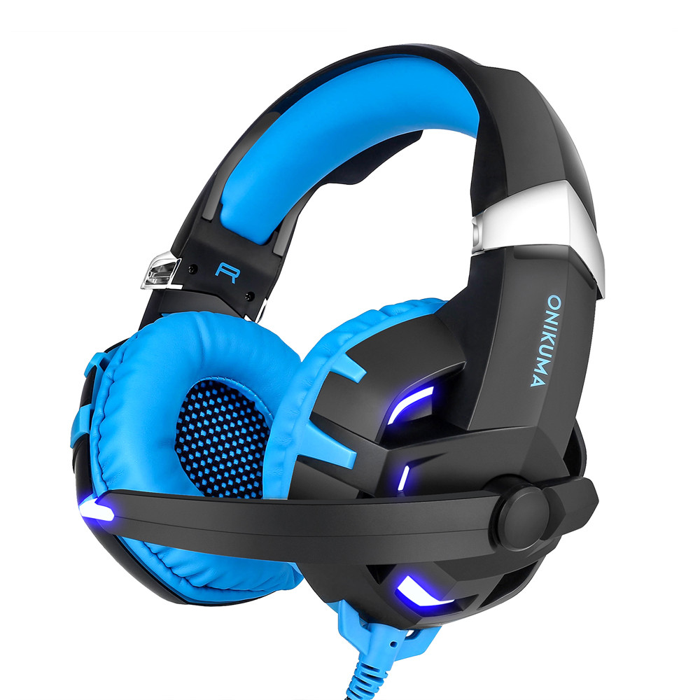 ONIKUMA K2 7.1 Surround Sound USB Gaming Headset Casque Wired PS4Xbox One Headphoes with Microphone Volume Control for Computer (13)