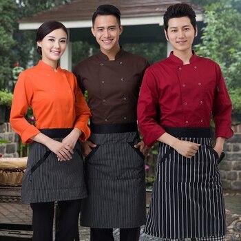 พ่อครัวห้องครัวสีที่มีคุณภาพสูงเครื่องแบบพ่อครัวสหราชอาณาจักรเสื้อผ้าหญิงร้านอาหาร