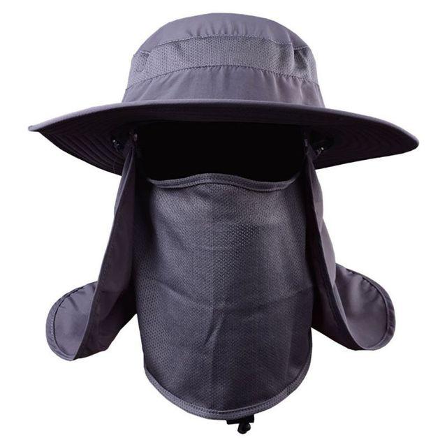 2e8e2b4fad5d3 Outdoor 360 degree Assembled Neck Cover Boonie Fish Camping Hunting Snap  Hat Brim Cap Ear Sun