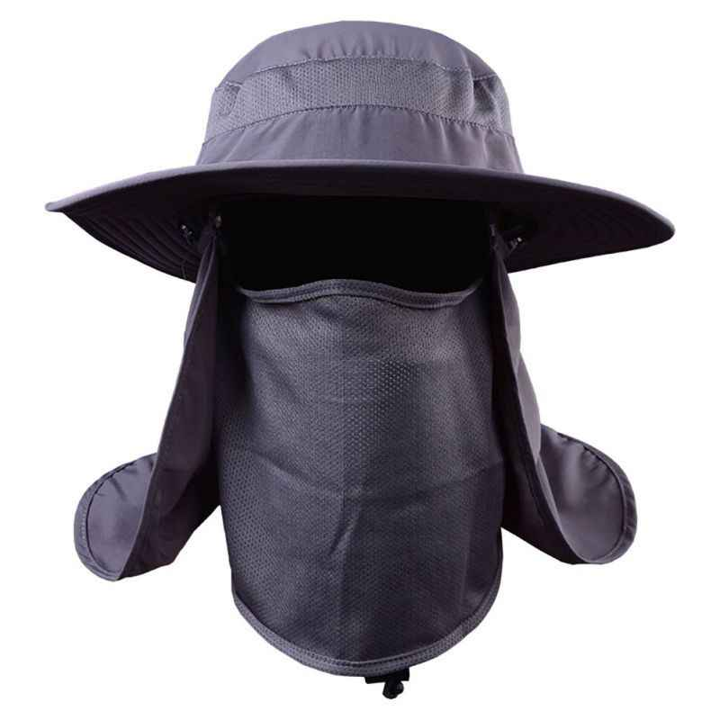 4f999e2bccf Outdoor 360 degree Assembled Neck Cover Boonie Fish Camping Hunting Snap  Hat Brim Cap Ear Sun