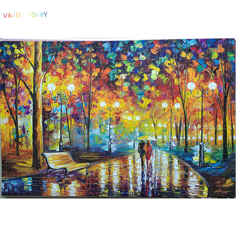 wooden Jigsaw puzzle 1000 pieces world famous painting adult children toys home decoration Assembling Direct
