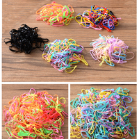 300pcs Lot Korean Candy Color Headwear Hair Ring Ropes Ponytail Holder Disposable Elastic Hair Bands For