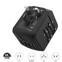 Adaptador de viagem universal para carregador  adaptador para carregamento universal em parede  tomadas elétricas  conversor de tomada para celulares