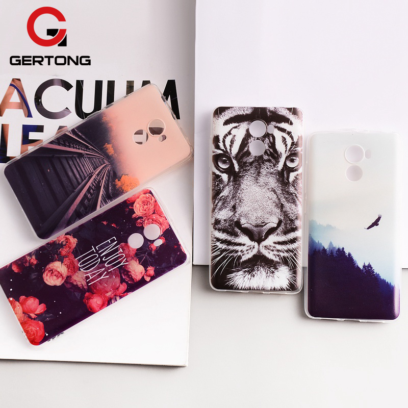 GerTong Soft TPU Painted Phone Case For Xiaomi Redmi Note 4 Global Version 4X 4A Note 5A Prime Y1 Lite Mi6 Mi Max Mix 2 Mi A1 5X