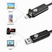 New USB Endoscope 5.5mm Lens 6LED IP67 Waterproof Borescope Inspection Camera For Android Smart Phone PC Laptop with 1m-5m Cable