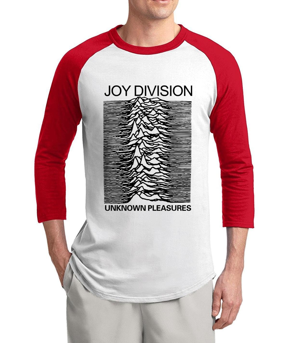 hip hop streetwear Joy Division Unknown Pleasure 2017 hot sale summer 3/4 sleeve t shirts 100% cotton raglan men t-shirt