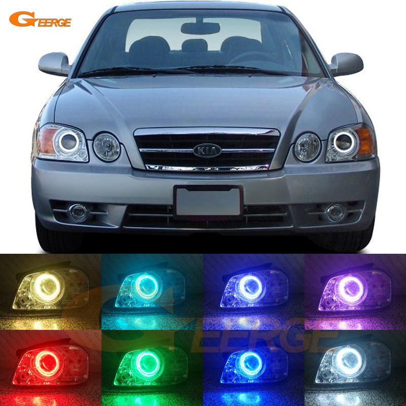 For Kia Optima MAGENTIS 2003 2004 2005 2006 Excellent Angel Eyes Multi-Color Ultra bright RGB LED Angel Eyes kit Halo Rings for lexus lx470 2003 2004 2005 2006 2007 excellent multi color ultra bright rgb led angel eyes kit halo rings