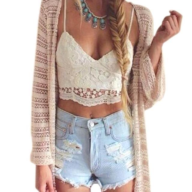 62802bb41 2019 lace womens tops lace Women Crochet Tank Camisole Lace Vest Blouse Bralette  Bra Crop Tops Brandy Melville Blusa de renda