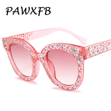 PAWXFB 2018 Novo Diamante de Cristal Estrela Completa G Óculos De Sol Das  Mulheres Dos Homens Quadro Quadrado Rosa Designer de M.. 3300d6c899
