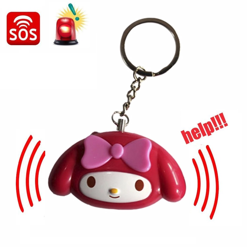 706 Cute Mini Self Defense Alarm 120 DB Personal Security Alarm Anti-Attack Emergency Alarm Keyring For Women Kids Elderly