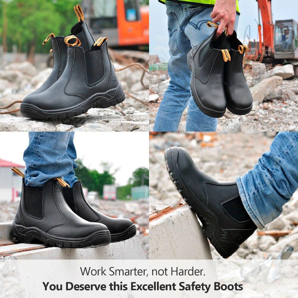 Chaussures de sécurité Safetoe S3 avec embout en acier, bottes de sécurité légères avec cuir imperméable pour hommes et femmes botas hombre - 6