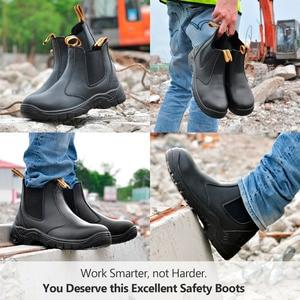 Image 5 - Safetoe S3 Veiligheidsschoenen met Stalen Neus, licht Gewicht Werk Veiligheid Laarzen met Waterdichte Leer voor Mannen en Vrouwen botas hombre