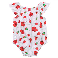 Floral Infant Baby Girl Clothes Bodysuit Short Sleeve Cute Cotton Jumpsuit Sunsuit Oufits Baby Girls New