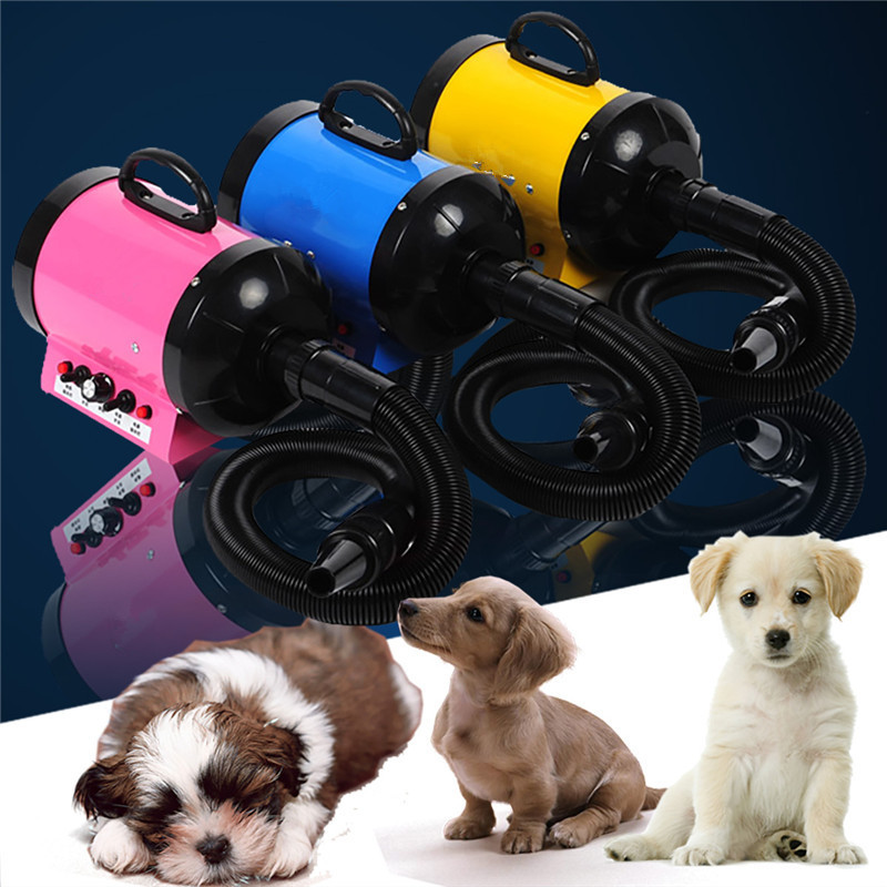 2800W Dog Pet Grooming Dryer+3 Nozzles Hair Dryer Blower Low Noise Fast Drying Removable Hairdryer Pet Salon Tool With Adapter