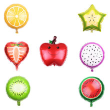 1PC 18-inch Fruit Orange Dragon Fruit Kiwi Apple Balloon Aluminum Helium Balloons Birthday Party Decorations Kids Toys Globos(China)