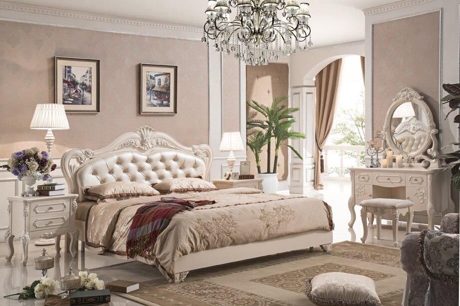 Stile antico mobili francesi elegante camera da letto set py 7612 in ...